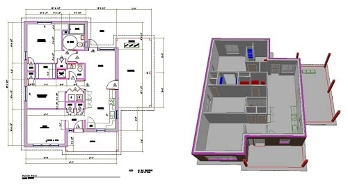 CAD Drawing DXF File - Architect Example