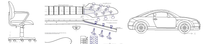 CAD Drawing in DXF File - Product Designer Example