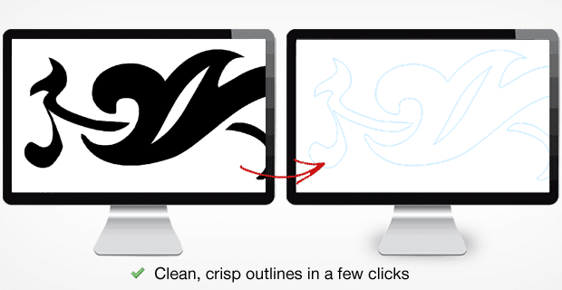 Raster to Vector Image Conversion - Trace Image Outlines