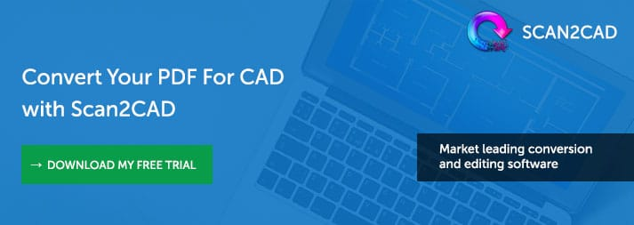 Scan2CAD Convert PDF to DXF - Free Trial Banner
