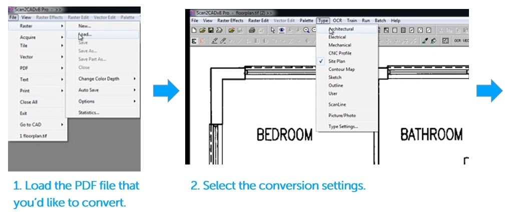 Step by step guide to PDF-to-DXF Conversion