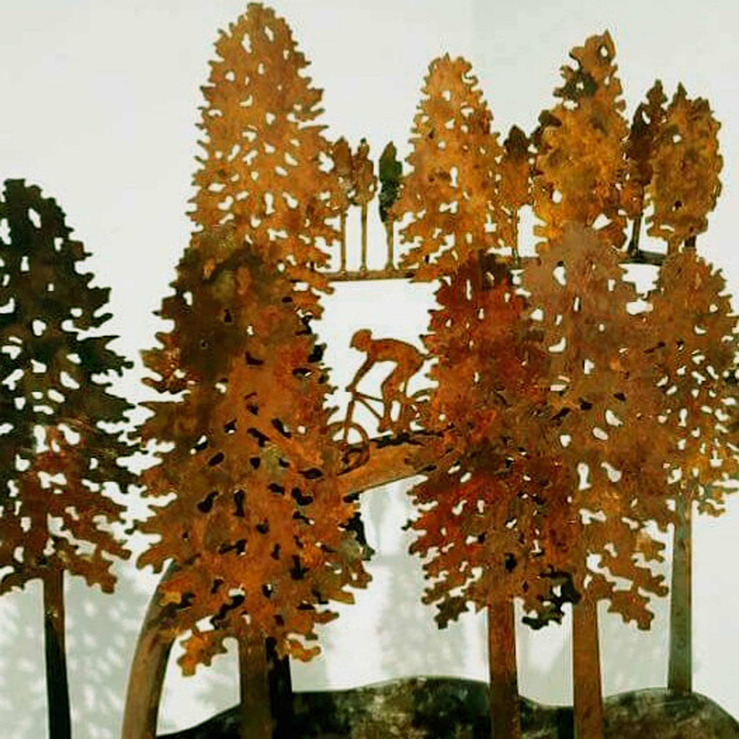 David's piece Singletrack draws on his love of mountain biking