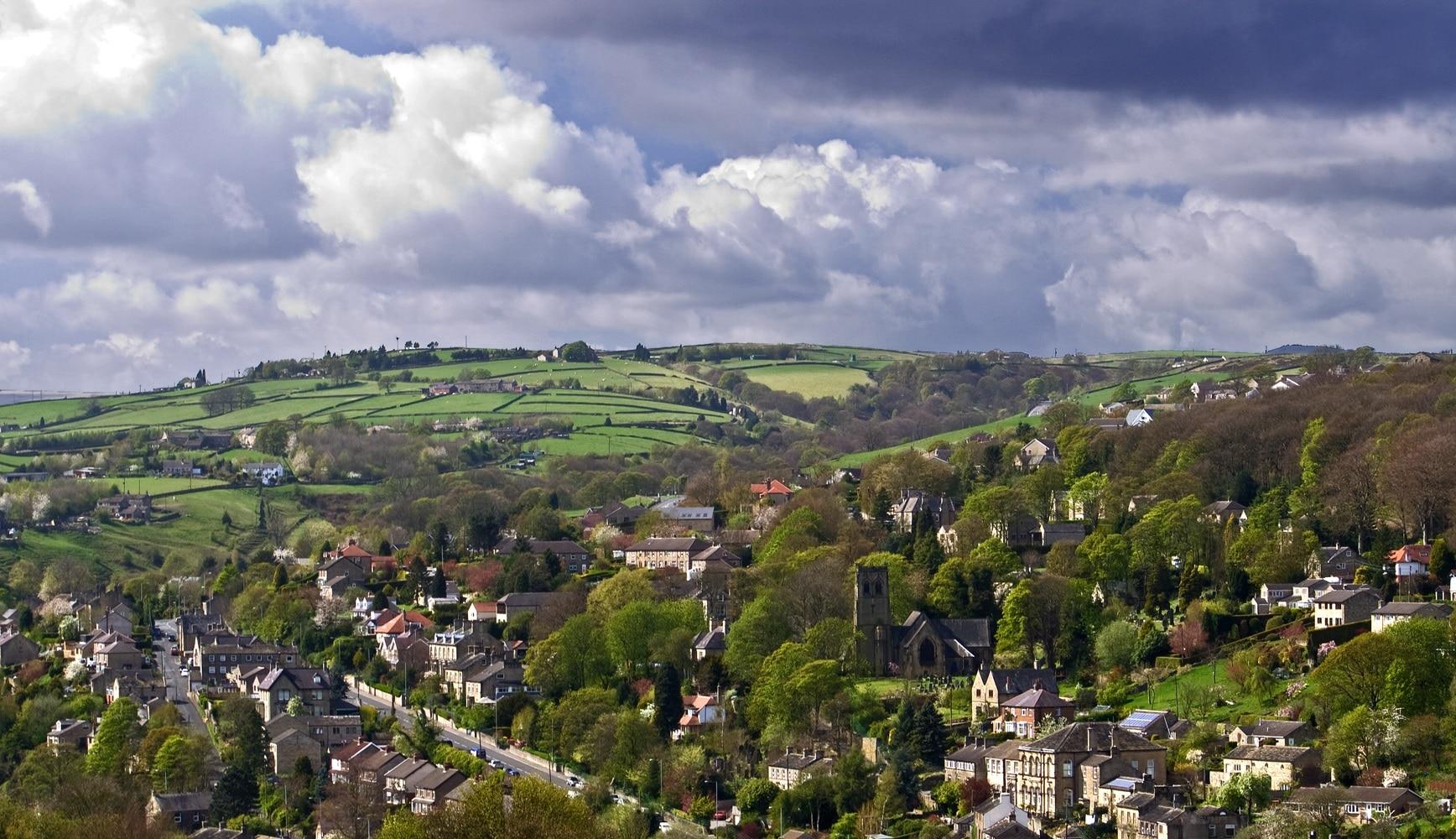 Landscape shot of Holmfirth