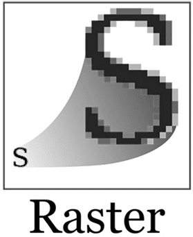 raster image example of letter 's'