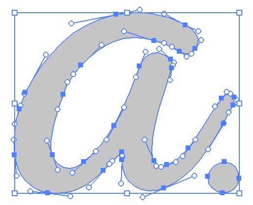 Image of a manually traced letter
