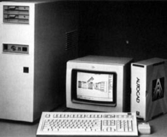 Early AutoCAD workstation (Source: Ohio State University)
