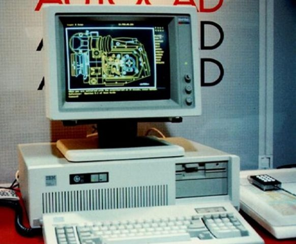 Here's a screenshot of AutoCAD 1 from 1982! (Source: Flickr)