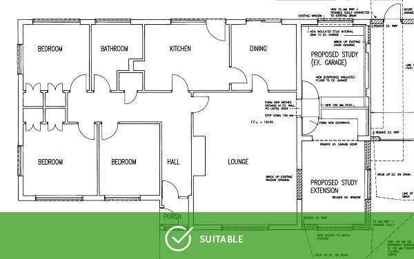 Floorplan - Good image for vector conversion