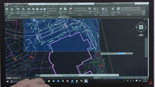AutoCAD 2018 — Off-screen selection