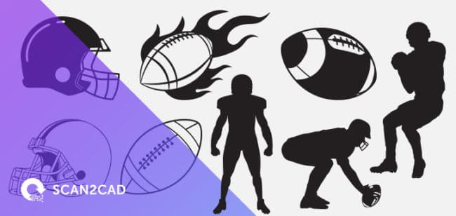 Image of free American football DXF files