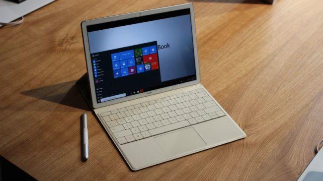 Huawei Matebook running Windows 10
