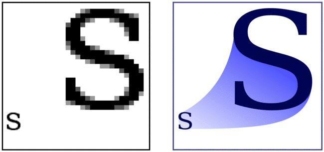 Raster files versus vector files