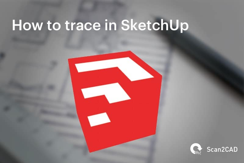 Sketchup Logo overlaid on paper and pencil