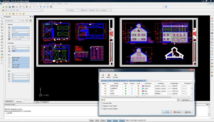 Screenshot of DraftSight