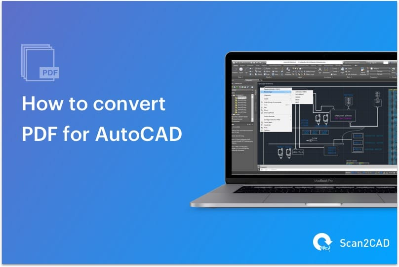 Laptop with AutoCAD Software - Convert PDF to AutoCAD