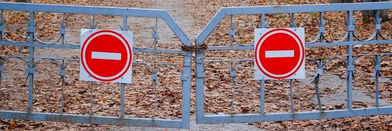 No entry gates