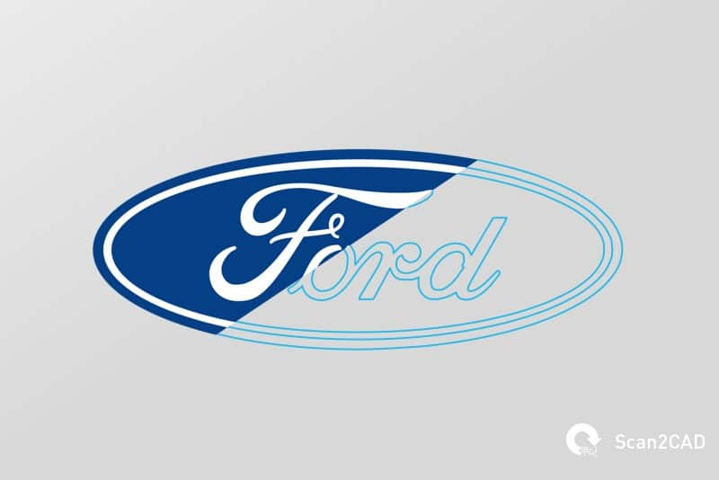 Ford logo in raster image and vector g-code