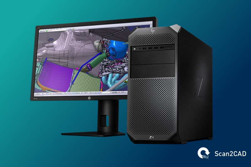 HP Z4 Computer With Monitor