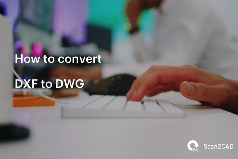 Man using computer keyboard - Convert DXF to DWG