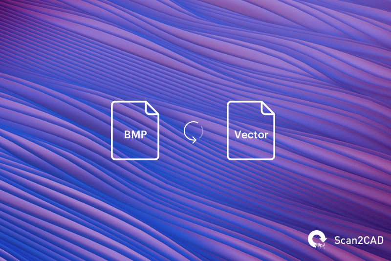 Illustration on purple waves - converting BMP file to vector file