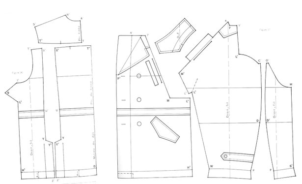 Paper pattern for garments example