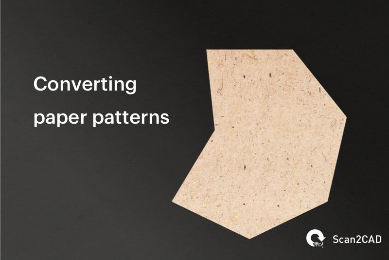 Paper pattern on dark background - Converting paper patterns