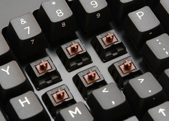 Examples of cherry MX brown key switches