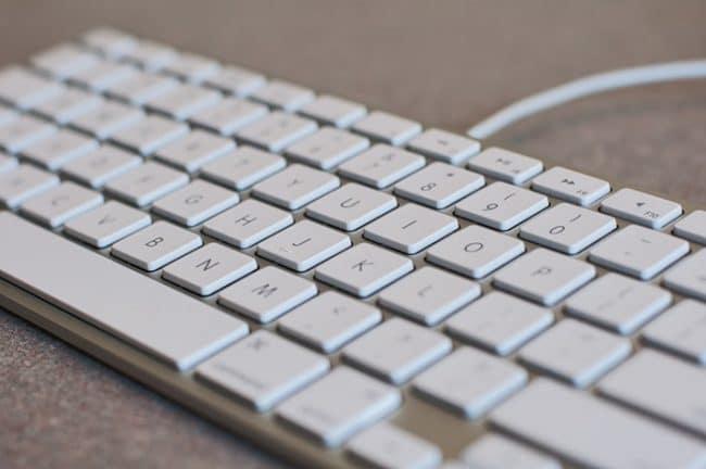 White wired keyboard