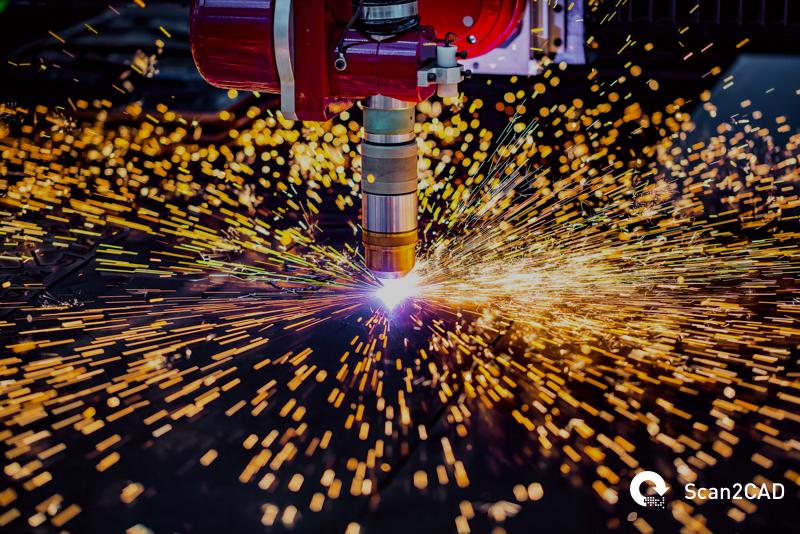 CNC laser plasma machine, cutting metal