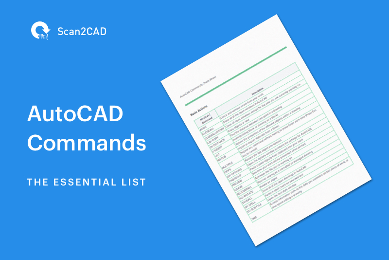 Preview of PDF AutoCAD Commands List - AutoCAD Commands The Essential List