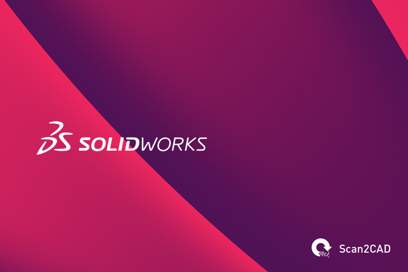 Solidworks logo on red background