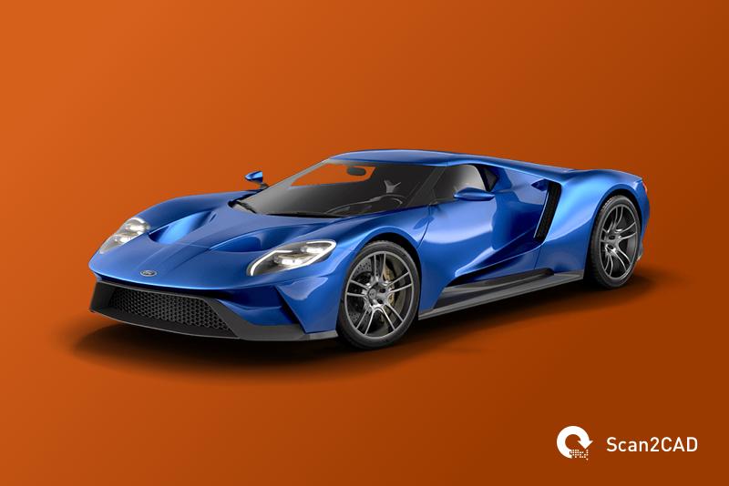 Ford GT car 3D CAD model