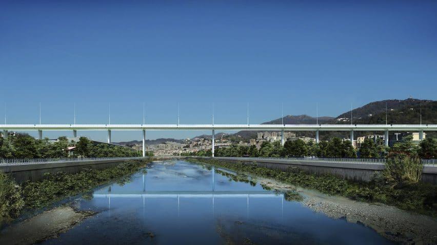 Renzo Piano Genoa bridge design