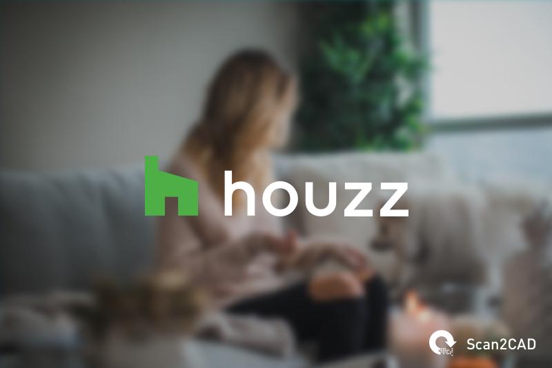 Woman sat on sofa with dog - Houzz logo