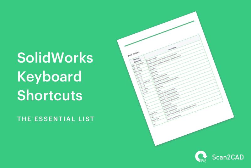 SolidWorks Keyboard Shortcuts