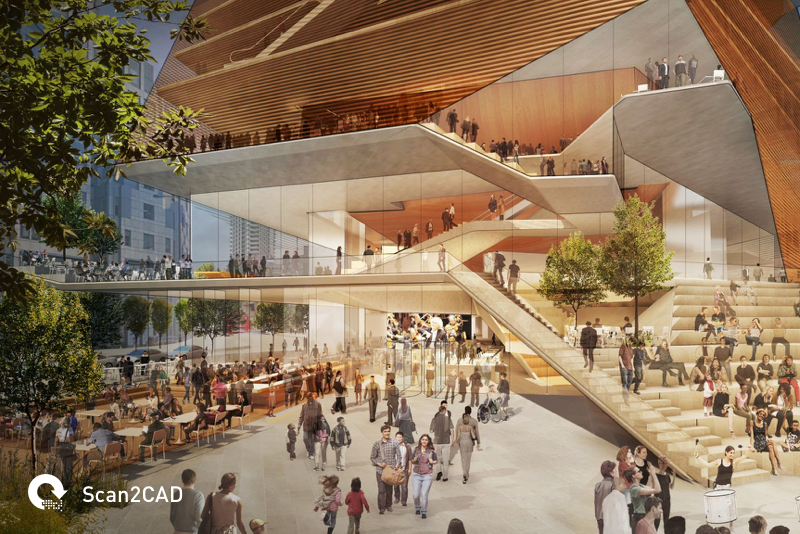 Artist rendering of the new London Concert Hall building