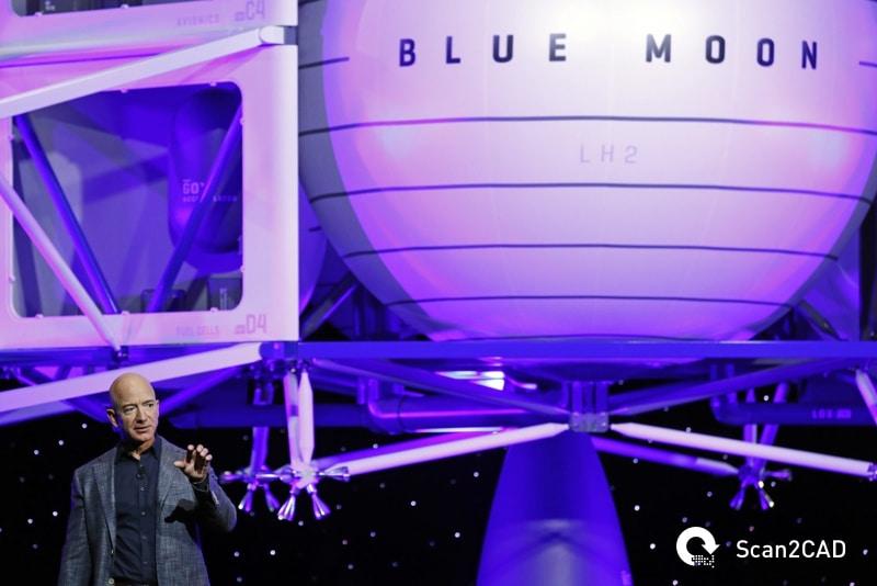 Jeff Bezos announcing Blue Moon Lunar Lander