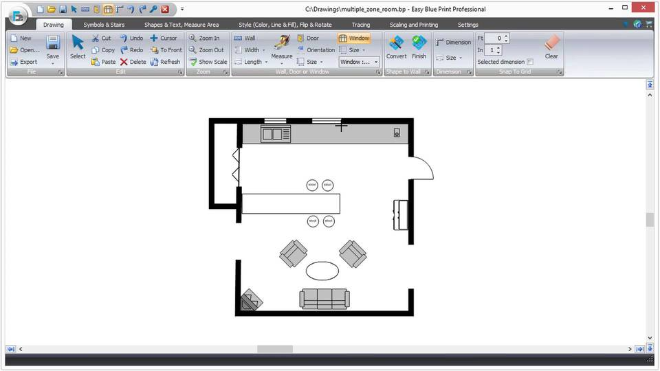 Easy Blue Print software screenshot