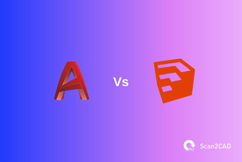 AutoCAD vs SketchUp application icons
