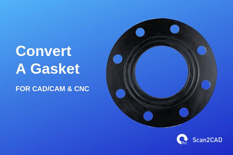 Circular metal gasket - Convert gasket for CAD/CAM & CNC
