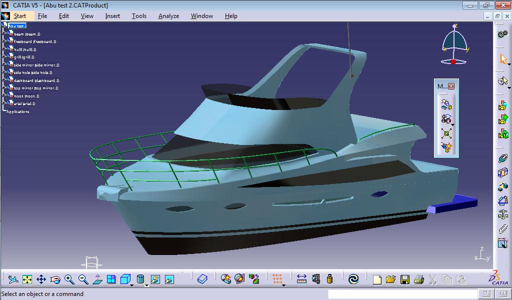 Catia 3D modeling screenshot