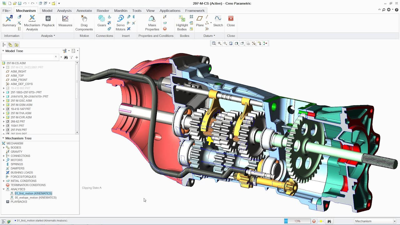 Creo 3D modeling screenshot
