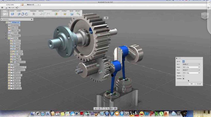 Fusion 360 3D modeling screenshot