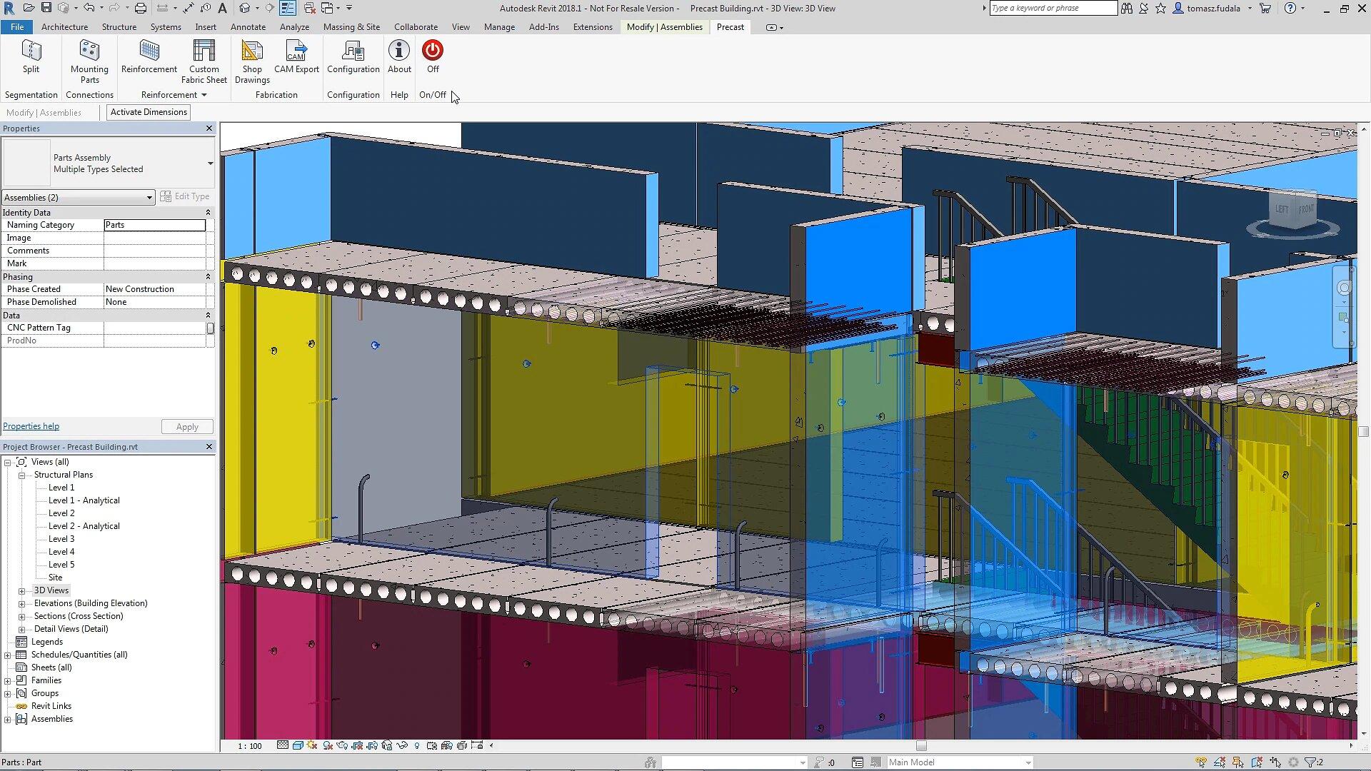 Revit 3D modeling screenshot