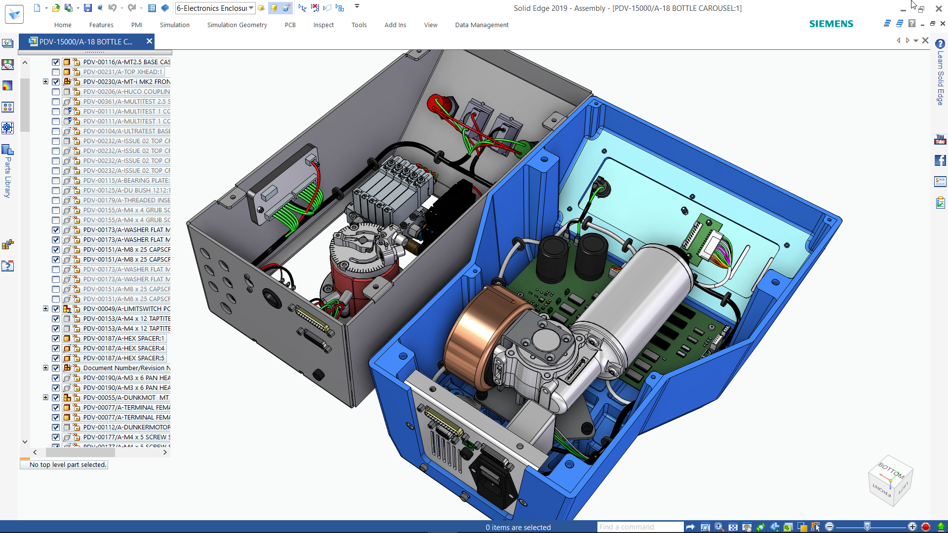 Solid Edge 3D modeling screenshot