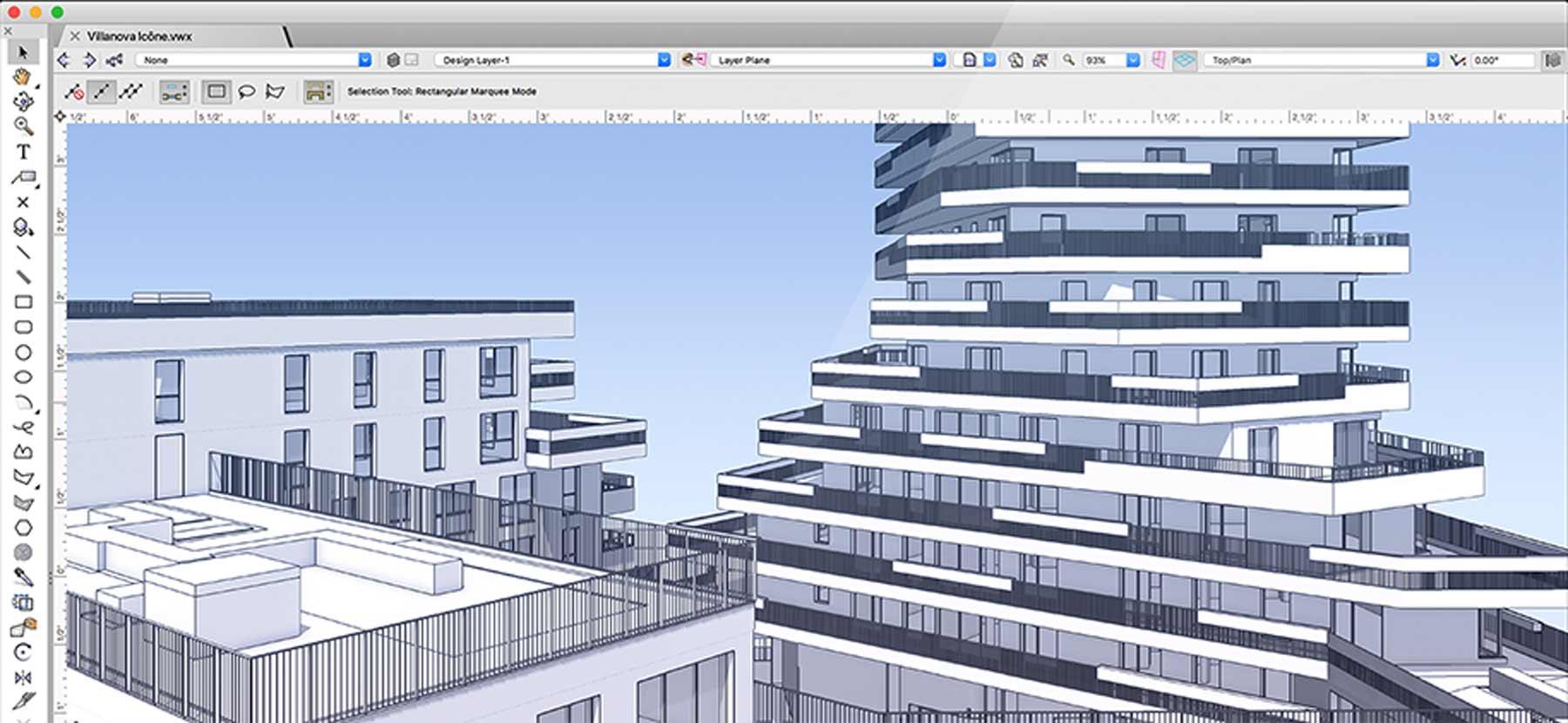 Vectorworks 3D modeling screenshot