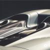 Rear of silver supercar