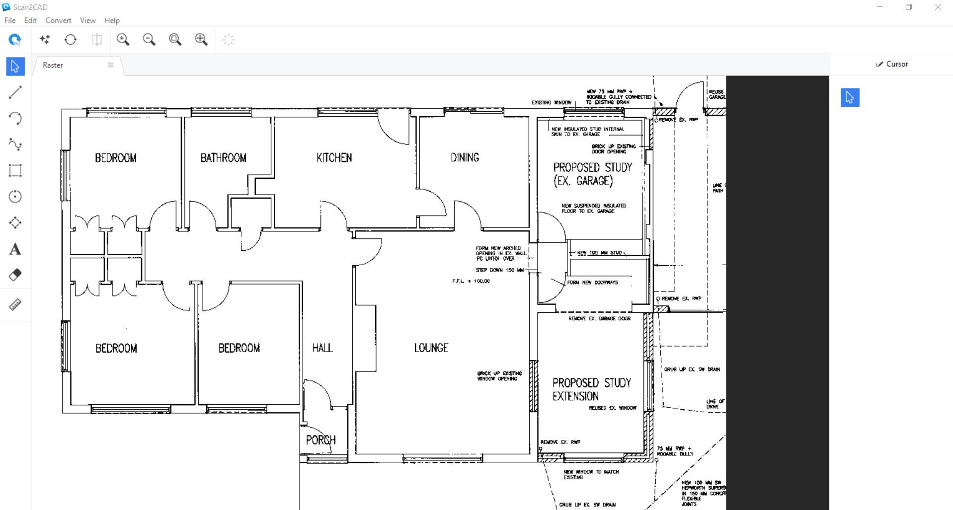 screenshot of raster floor plan