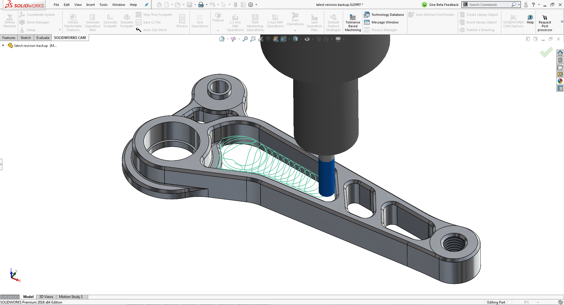 CAM features of SolidWorks