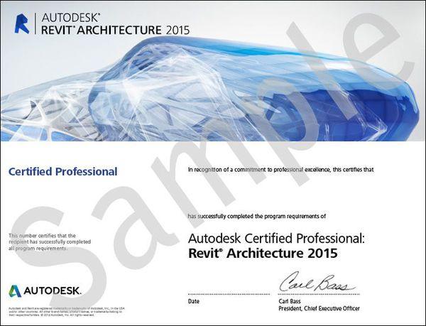 Autodesk Revit Architecture certification
